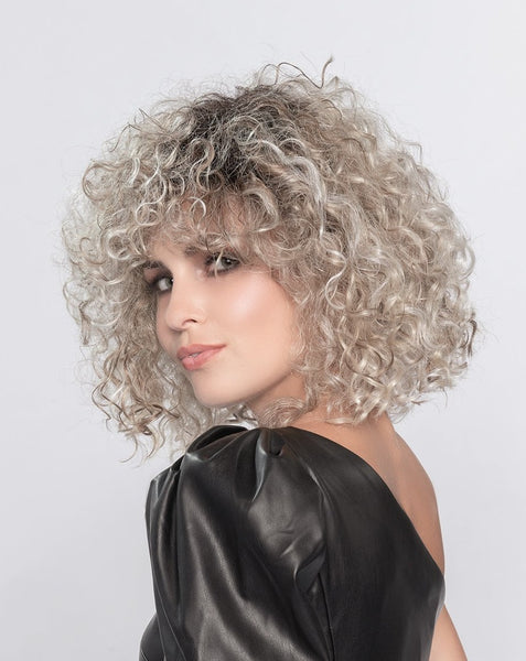 Disco synthetic wig Pearl Blonde Rooted