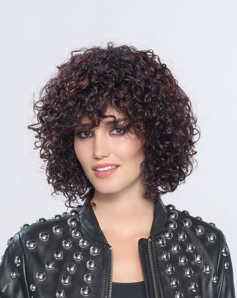 Disco synthetic wig Aubergine Rooted