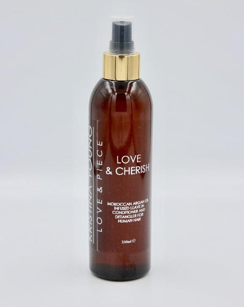 LOVE & PIECE : LOVE & CHERISH - Moroccan Argan Oil Infused Leave in Conditioner and Detangler (250ml)