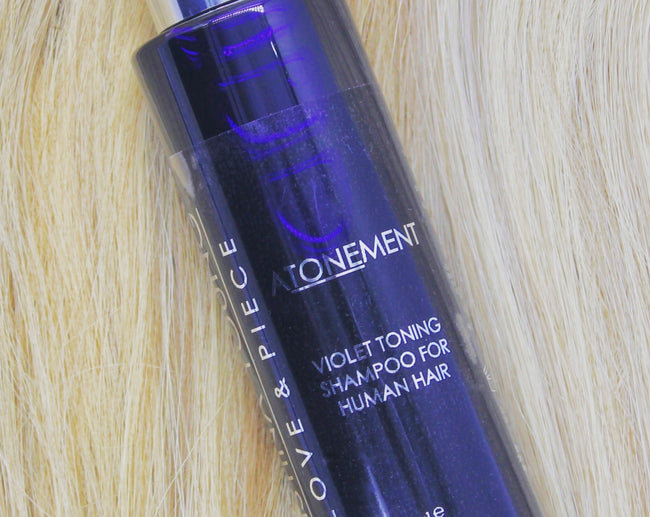Love & Piece ATONEMENT Violet Toning Shampoo for human hair wigs, toppers & extensions