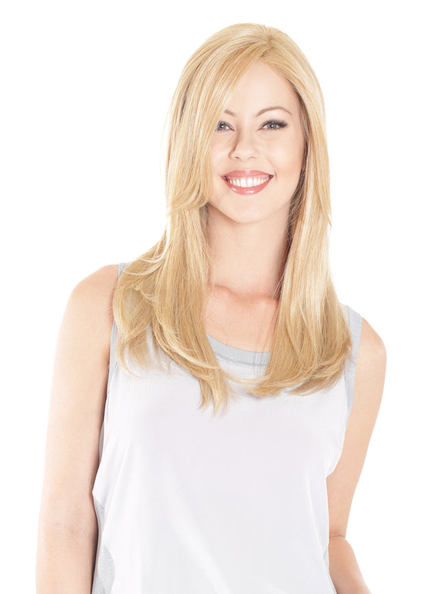 "TOPPER RENTAL : Belle Tress - Lace Front Mono Top Straight 18""  (Colour - Champagne with Apple Pie)"