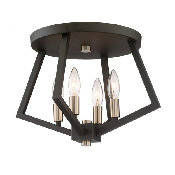 Flush-Mount  | Geometric 4 Light Flush Mount