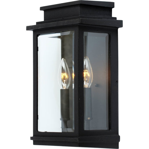 Outdoor Sconce | Contemporary Clear Glass