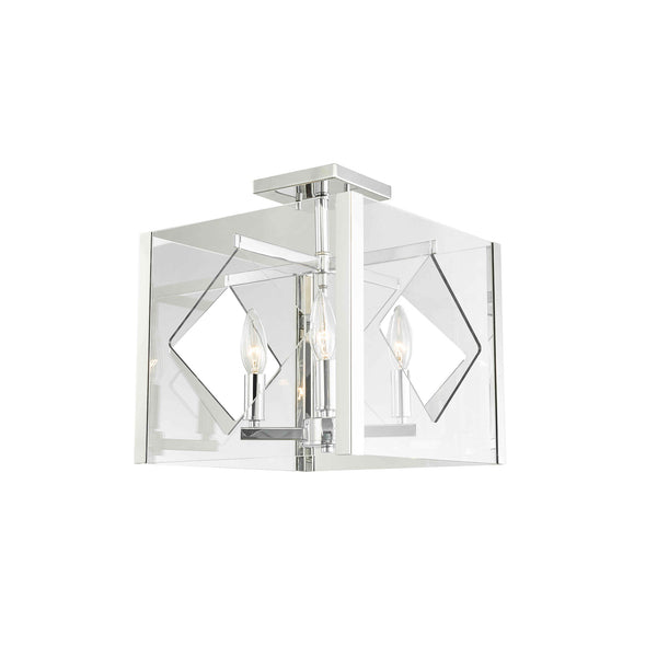 Semi-Flush | Acrylic Square 4 Light