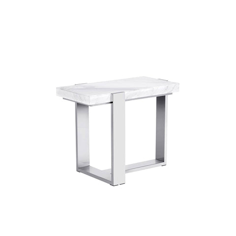 Furniture | White Marble End Table
