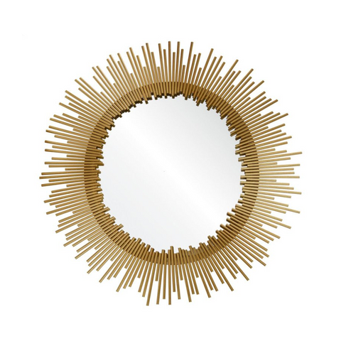 Mirror | Circular Brass Spiked