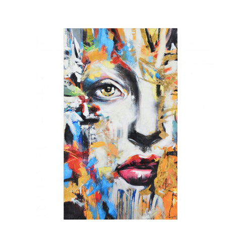 Wall Art | Multi Coloured Painting With Abstract Face