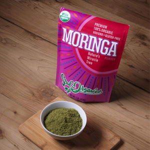 Organic Moringa Powder - USDA Organic Certified Moringa Oleifera Powder, for Natural Energy and Nutrition