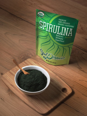 Organic Spirulina Powder, 8 oz