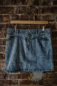 Acid Washed Denim Skirt 2310