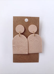 Blush Moroccan Textured Clay Earrings