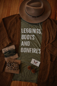 Leggings, Boots, & Bonfires Tee 2241