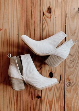 White Snake Booties 2420