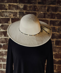 Ivory Wool Floppy Hat 2342