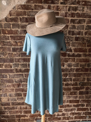 Blue Grey Short Sleeve Tunic 2492