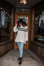 Cream Popcorn Knit Turtleneck Sweater 2440