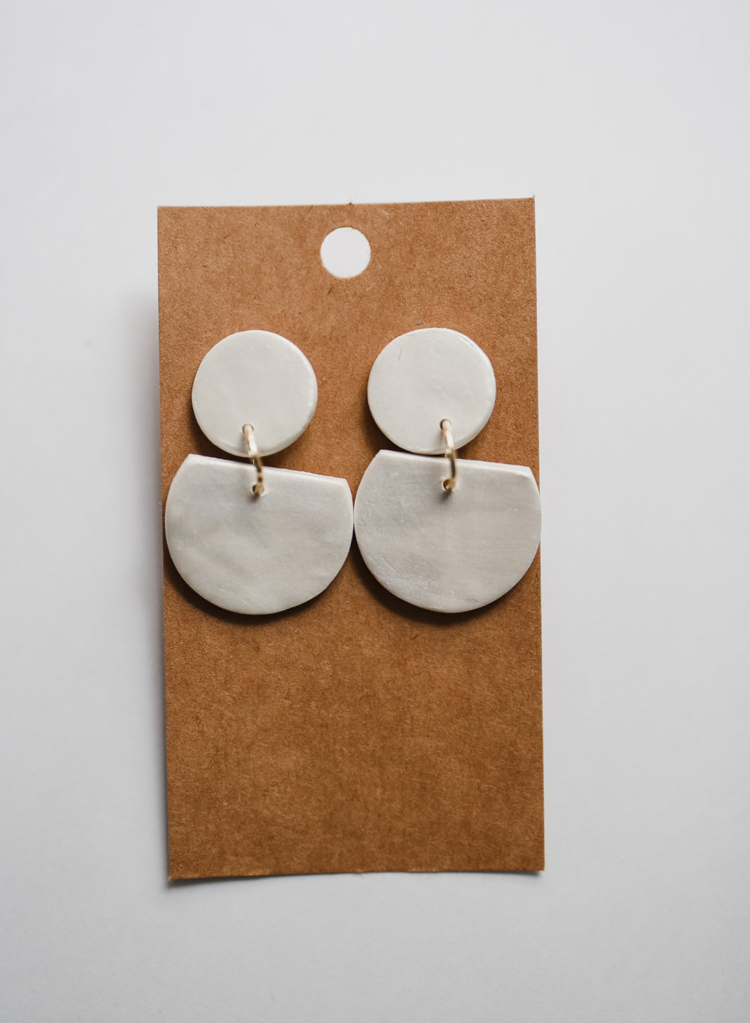 The Dottie Clay Earrings in Pearl