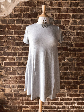 Heathered Grey Short Sleeve Tunic 2496