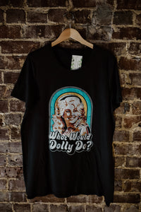 Black What Would Dolly Do Tee 2321