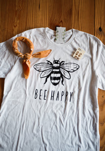 White Bee Happy Tee 2534