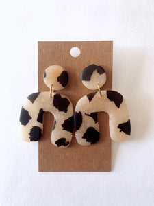 Translucent Cow Arch Clay Earrings
