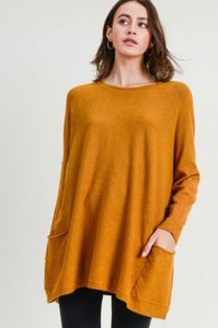Mustard Pocket Sweater 2860