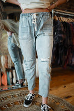 Light Denim Jean Joggers 2990
