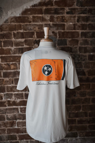 Tennessee Flag Short Sleeve Pocket Tee 2198