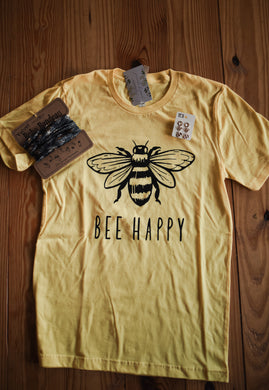 Yellow Bee Happy Tee 2533