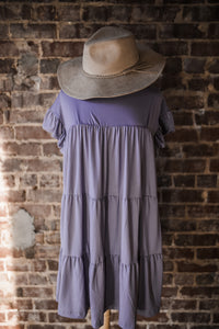 Lavender Tiered Ruffle Dress 2525