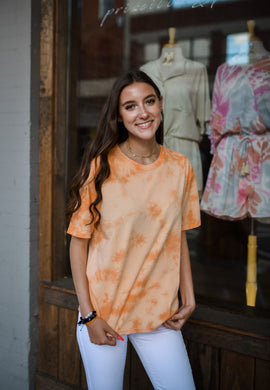 Orange Tie Dye Shirt 2653