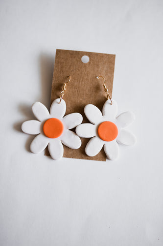 Game Day Daisy Clay Earrings