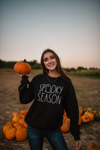 Black Spooky Season Sweatshirt 2852