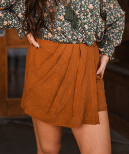 Camel Pleated Skort 2873
