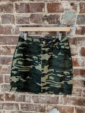 Camoflauge Denim Skirt 2370