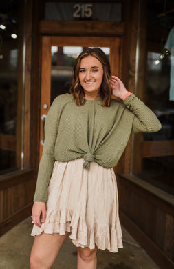 Easy Breezy Top in Olive 2658