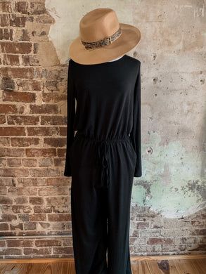 Black Long Sleeve Jumpsuit 2382