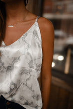 Marbled Satin Tank 2738