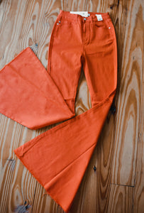 Orange Bell Bottom Jeans 2235