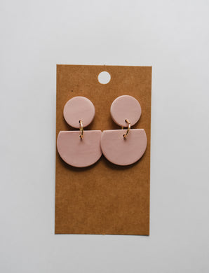 The Dottie Clay Earrings in Blush