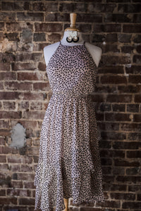 Rose Cheetah Midi Dress 2530
