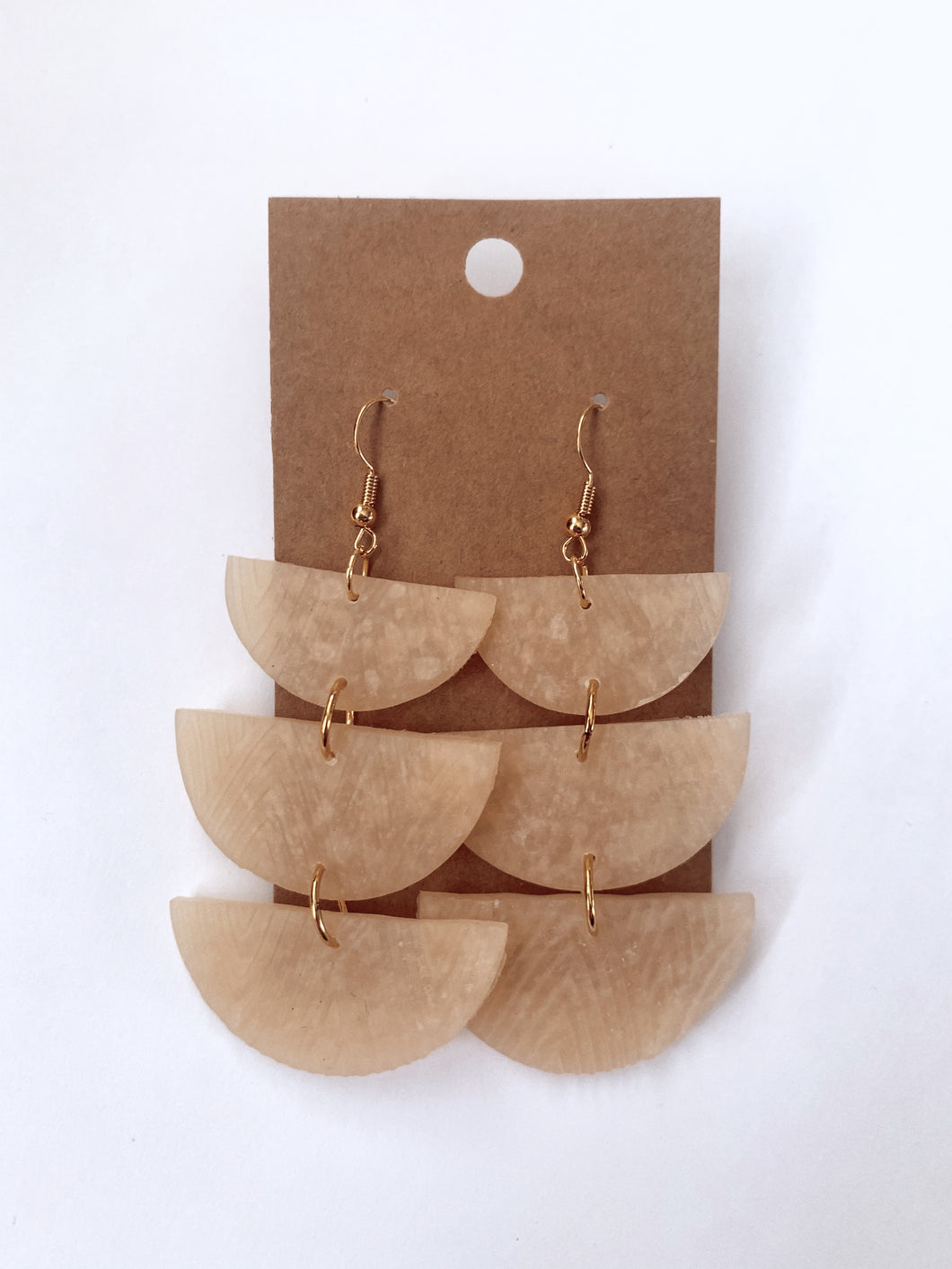 Translucent Textured Dangle Clay Earrings