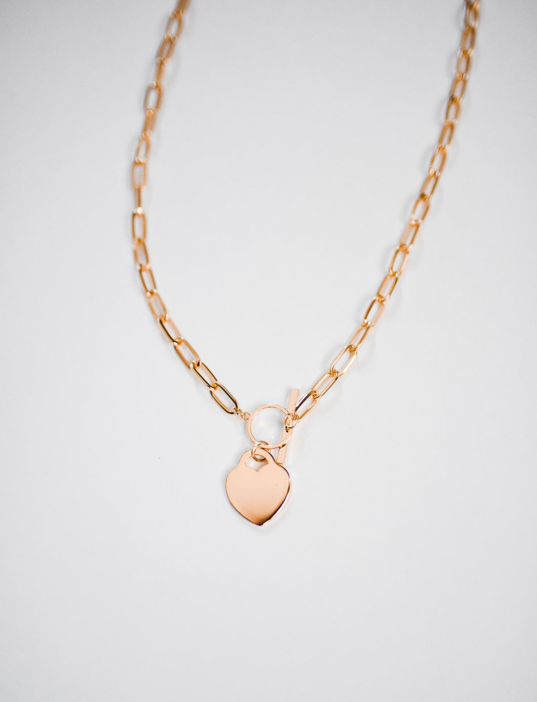 Chain Heart Necklace in Gold