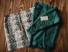 Cactus Green Distressed V-Neck Sweater 2303