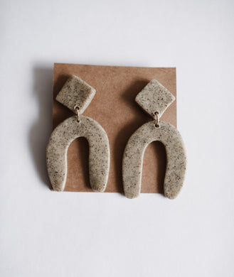 Stone Arch Clay Earring