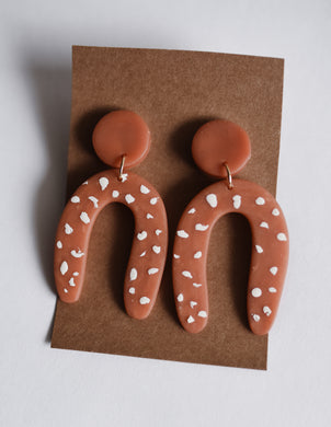 Terra Cotta Arch Clay Earring