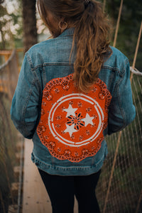 Orange Bandana Tri-Star Denim Jacket 2256