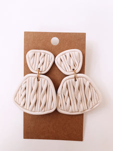 Sweater Weather Clay Earrings in Ivory