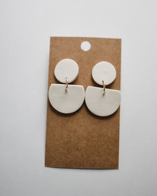 The Dottie Clay Earrings in Ivory