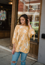 Mustard Floral Tunic 2693